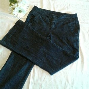 MAURICES Dress Jeans Dark Wash Flat Front